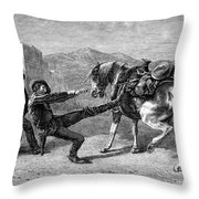 Gold Prospectors, 1876 Throw Pillow