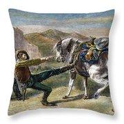 Gold Prospectors, C1876 Throw Pillow