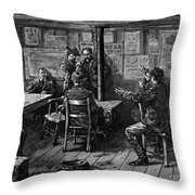 Gold Rush: Miners, 1887 Throw Pillow