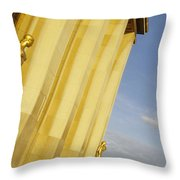 Gold Statue . Trocadero. Paris Throw Pillow