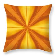 Golden 4 Leaf Clover  Throw Pillow