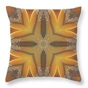 Golden Abstarct Energy Throw Pillow