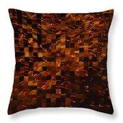 Golden Abstract Throw Pillow