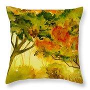 Golden Autumn Day Throw Pillow