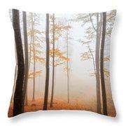 Golden Autumn Forest Throw Pillow