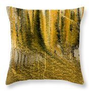 Golden Autumn Forest Throw Pillow