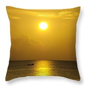Golden Bahamas Sunset Throw Pillow