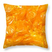 Golden Butterscotch Throw Pillow