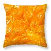 Golden Butterscotch Square Throw Pillow