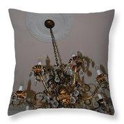 Golden Chandelier Throw Pillow