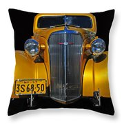 Golden Chevrolet Throw Pillow