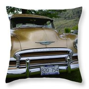 Golden Chevy Throw Pillow