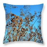Golden Crepe Myrtle Seeds Throw Pillow