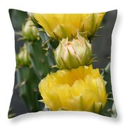 Golden Euphoria Throw Pillow