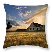 Golden Evening Throw Pillow