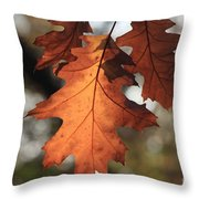 Golden Fall Leave's Close Up Throw Pillow