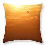 Golden Flight Throw Pillow