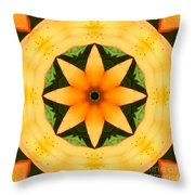 Golden Flower 2 Throw Pillow