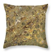 Golden Fluidity Throw Pillow