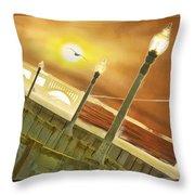 Golden Gate And Sea Gul Throw Pillow