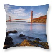 Golden Gate At Dawn Throw Pillow