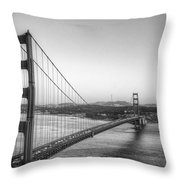 Golden Gate Black And White Throw Pillow