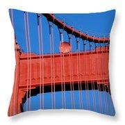 Golden Gate Bridge Summit Throw Pillow