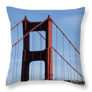 Golden Gate North Tower Throw Pillow