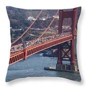 Golden Gate Traffic Throw Pillow