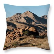 Golden Gold Butte Throw Pillow