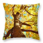 Golden Green Throw Pillow