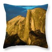 Golden Half Dome Throw Pillow
