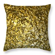 Golden Ice Crystals Throw Pillow