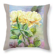 Golden Ladies Throw Pillow by Kathryn Duncan