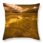 Golden Landscape Throw Pillow