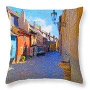 Golden Lane Throw Pillow