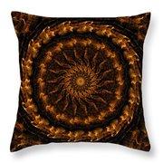 Golden Mandala 1 Throw Pillow