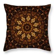 Golden Mandala 6 Throw Pillow