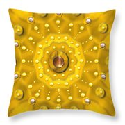 Golden Mandala With Pearls Throw Pillow