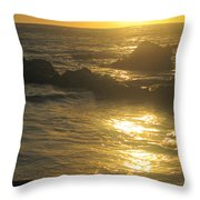 Golden Maui Sunset Throw Pillow