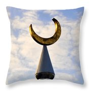 Golden Moon Throw Pillow