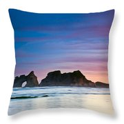 Golden Morning At A Beach  Throw Pillow