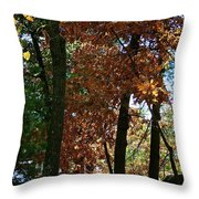 Golden Oak Throw Pillow