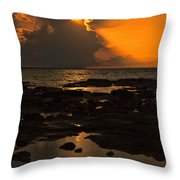 Golden Orange V4 Throw Pillow