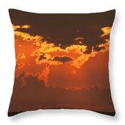 Golden Orange V5 Throw Pillow