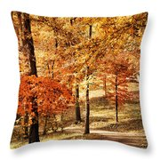Golden Path Throw Pillow