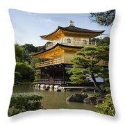 Golden Pavilion, A Buddhist Temple Throw Pillow