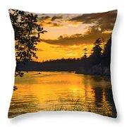 Golden San Juan Throw Pillow