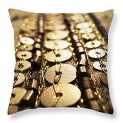 Golden Sequins Highway Throw Pillow