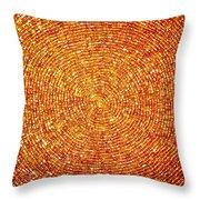 Golden Sequins Web Throw Pillow